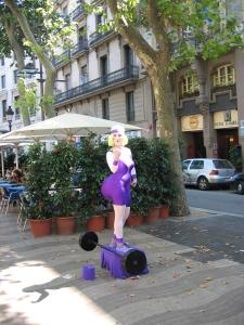 Barcelonan La Ramblasin kävelykadulta