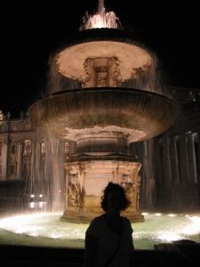 Roomaa iltavalaistuksessa
