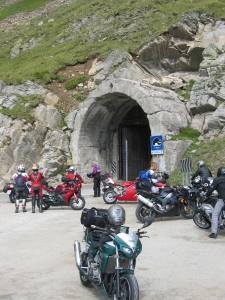 Wanha tunneli Timmelsjochilla