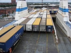 Finnlines. Rahtilaivalla Saksaan.