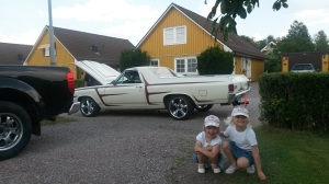 Avestassa sukuloimassa. Taustalla Ruotsin erikoisuus eli EPA-traktori.