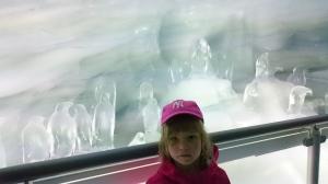 Jääluolasta Jungfraujochilta
