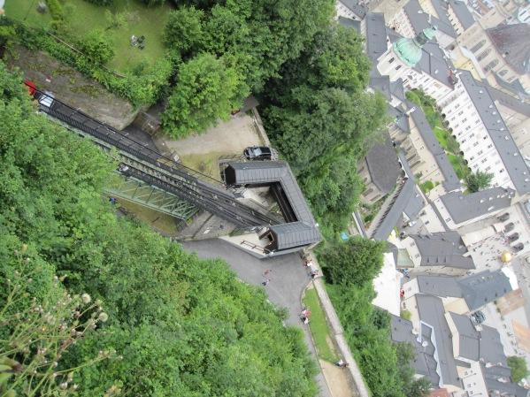 Salzburg - Hohensalzburg Fortress - junarata ylös linnalle
