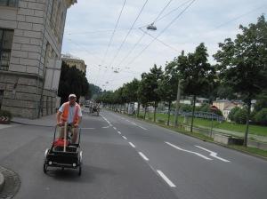Salzburg - hevosajelulta, takamies...