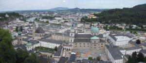 Salzburg linnalta kuvattuna