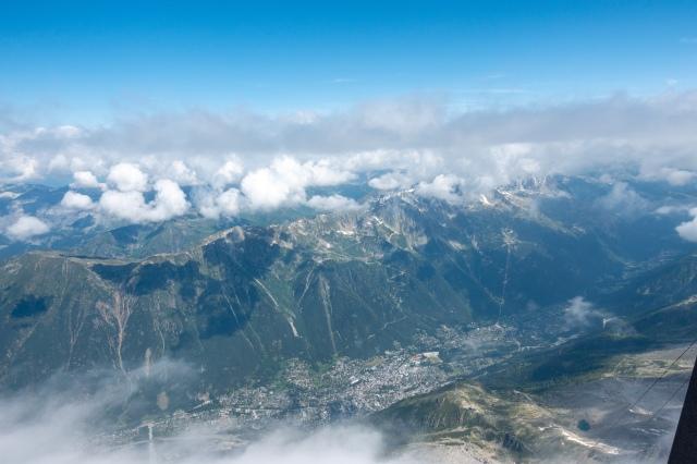Näkymä Chamonixin suuntaan