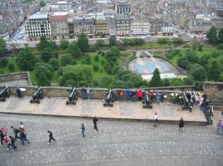 Edinburghin linnan tykistöä